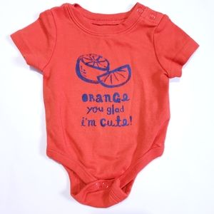 "0-3M ""Orange you glad I'm Cute"" Onesie"